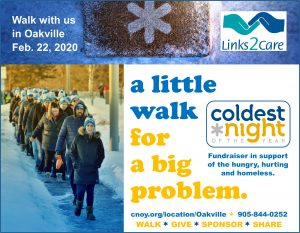 Coldest Night of the Year Walkathon in Oakville on February 22, 2020